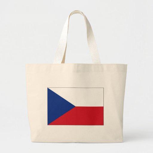 A bandeira nacional de república checa bolsa de lona