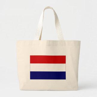 A bandeira nacional holandesa bolsa de lona