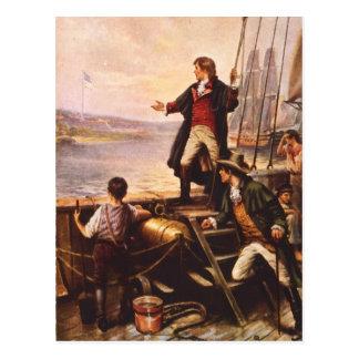 A bandeira star spangled por Percy Moran Cartão Postal
