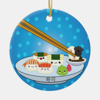 A bandeja DBL do sushi tomou partido ornamento
