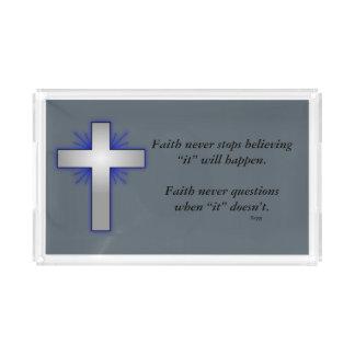 A bandeja w/Blue da vaidade da fé nunca alargou-se