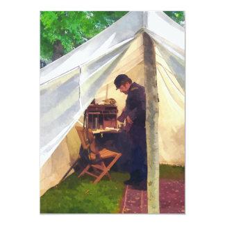 A barraca do oficial da guerra civil convite 12.7 x 17.78cm