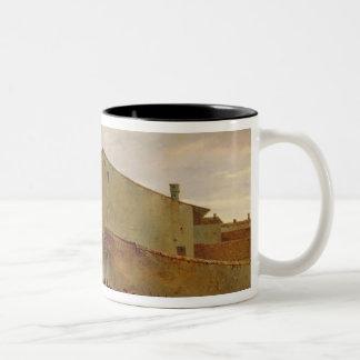 A batalha caneca de café em dois tons