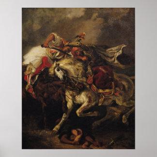A batalha de Giaour e de Hassan Pôster