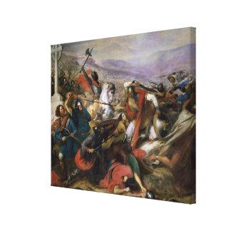 A batalha de Poitiers, ganhada por Charles Martel