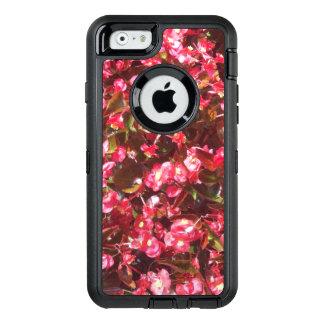 A begónia vermelha floresce capas de iphone do