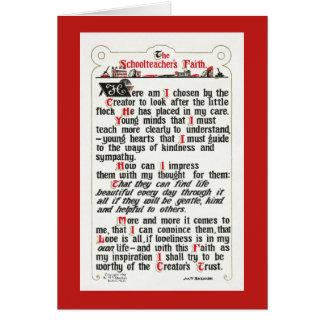 A beira Fé-vermelha do professor primário Cartão Comemorativo