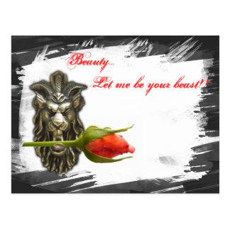 A beleza… deixou-me ser seu animal!! cartão