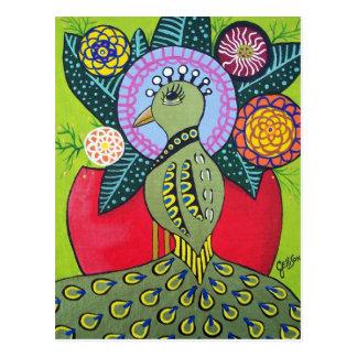 A beleza do cartão da arte do pavão da diferença