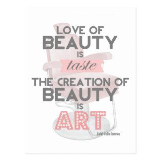 A beleza é cartão do salão de beleza do