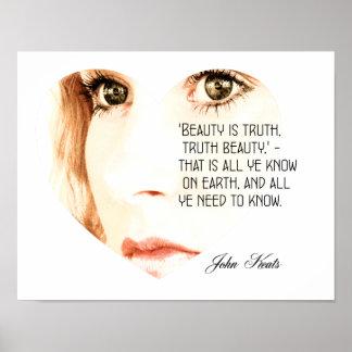 A beleza é verdade - John Keats - impressão da