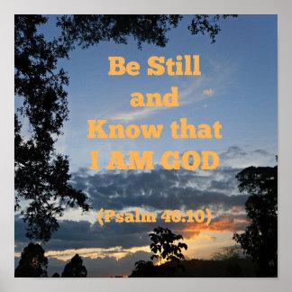 A bíblia do salmo seja ainda e saiba que eu sou pôster