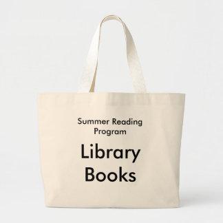 A biblioteca de programa da leitura do verão sacola tote jumbo