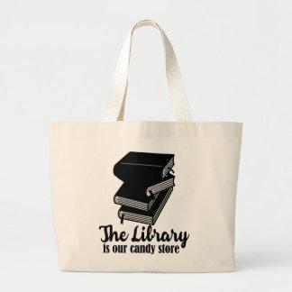 A biblioteca é nosso bolsa da loja de doces