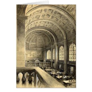 A biblioteca pública de Boston reduz Salão 1896 Cartoes