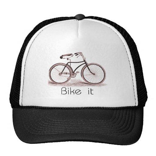 """A bicicleta do vintage com as palavras """"Bike o """" Bones"""