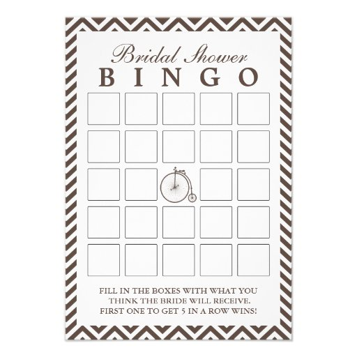 A bicicleta velha Chevron listra cartões do Bingo  Convite