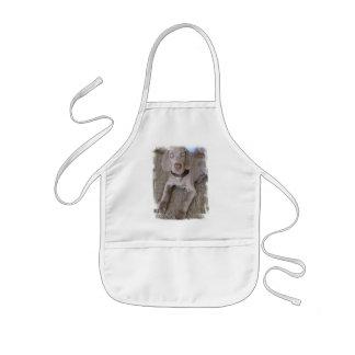 A blusa das crianças do filhote de cachorro de Wei Avental
