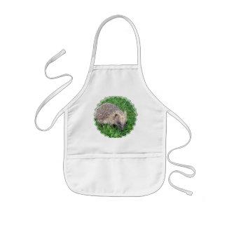 A blusa das crianças do ouriço do bebê avental