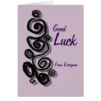 A boa sorte de todos adiciona seus redemoinhos da cartão comemorativo