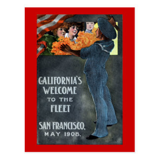 A boa vinda de Califórnia à frota Cartão Postal