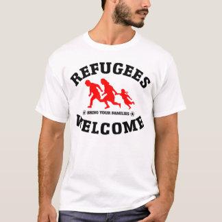 A boa vinda dos refugiados traz sua família camiseta