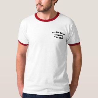 A Bobble-Cabeça dos homens e o clube de fãs de Camiseta