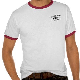 A Bobble-Cabeça dos homens e o clube de fãs de T-shirt