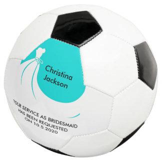 A bola de futebol da madrinha de casamento ou da
