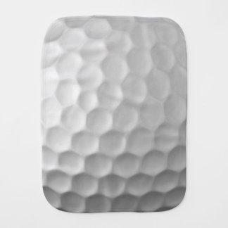 A bola de golfe ondeia o teste padrão da textura paninho para bebês