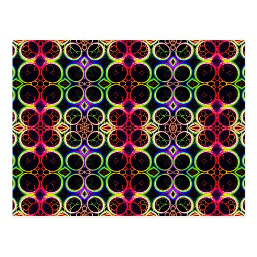 A bolha soa a arte holográfica do efeito do arco-í cartão postal