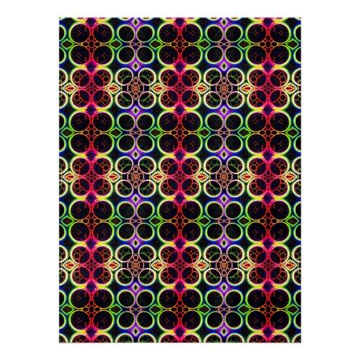 A bolha soa a arte holográfica do efeito do arco-í convite personalizado