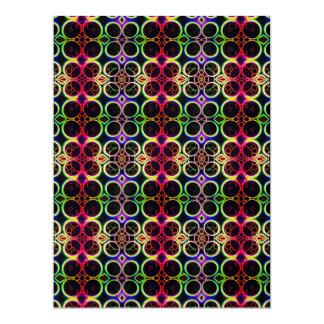 A bolha soa a arte holográfica do efeito do convite 16.51 x 22.22cm