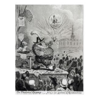 A bolha teatral cartão postal