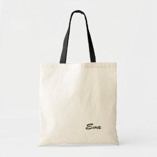 A bolsa de canvas branca pequena para Eva