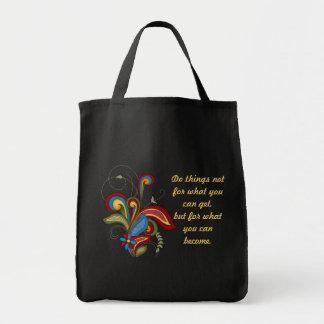 A bolsa de canvas da afirmação do redemoinho da ha