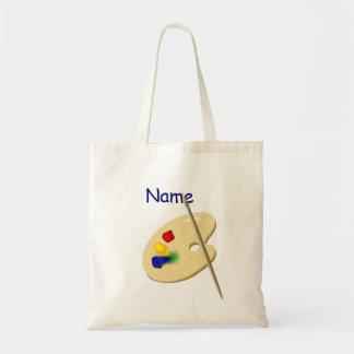 A bolsa de canvas da paleta do artista das criança