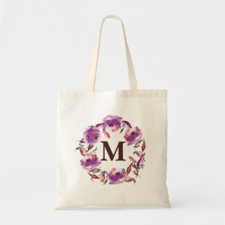 A bolsa de canvas personalizada floral do