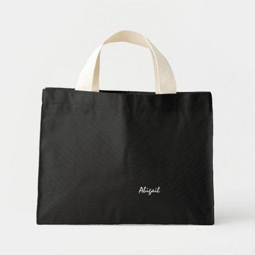 A bolsa de canvas preta de Abigail
