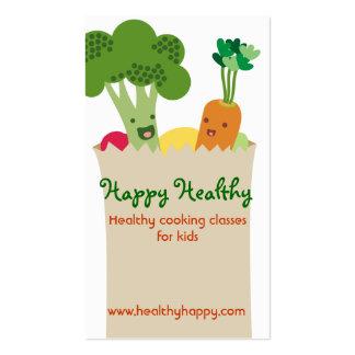 A bolsa de compra bonito dos vegetais do kawaii ca modelos cartoes de visita