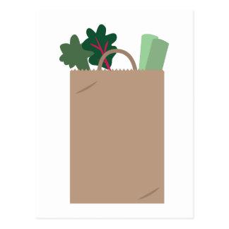 A bolsa de compra cartão postal