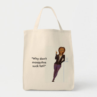 A bolsa de compra com slogan engraçado
