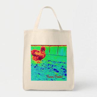 A bolsa de compra da fazenda de galinha de Silkie