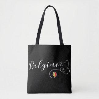 A bolsa de compra do coração de Bélgica, bandeira