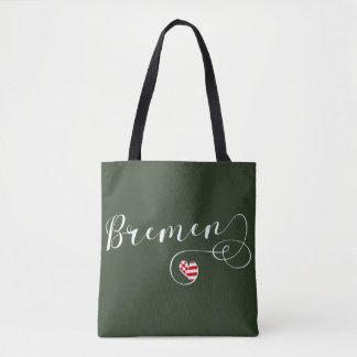 A bolsa de compra do coração de Brema, Alemanha