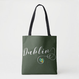 A bolsa de compra do coração de Dublin, Ireland