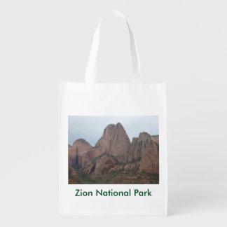 A bolsa de compra do parque nacional de Zion Sacolas Ecológicas Para Supermercado