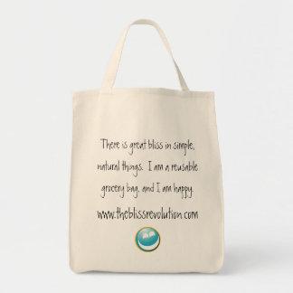 A bolsa de compra feliz