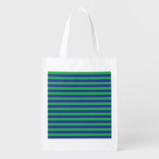 A bolsa de compra reusável das listras verdes e sacolas ecológicas para supermercado