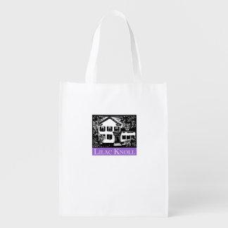 A bolsa de compra reusável do outeiro do Lilac Sacolas Ecológicas